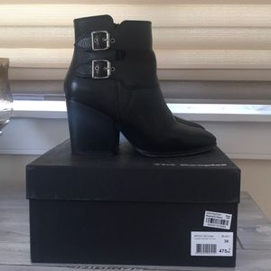The Kooples Black Leather Ankle Booties
